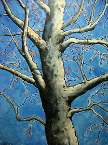 Birch With Berries (sold)